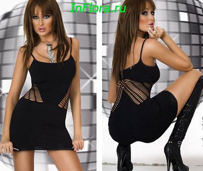 Сексуальное платье в дырочку