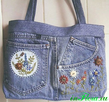 Джинсовая сумка своими руками из юбки