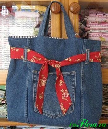 Пошив джинсовых сумок своими руками
