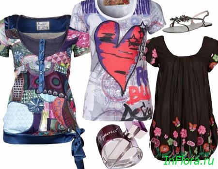 Модные майки весна-лето 2011 предлагают многие модные фирмы.