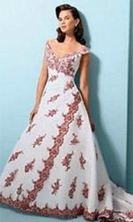 платья свадебные цветные